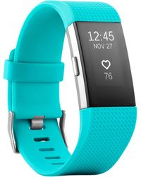 Fitbit | Unisex Charge 2 Elastomer Heart Rate & Fitness Wristband Fb407sbks | Lyst