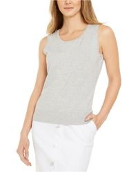 Charter Club Sleeveless Crew-neck Sweater, Created For Macy's - Multicolor