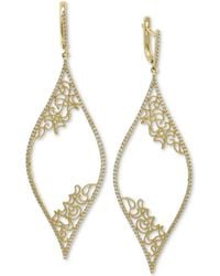 Effy Collection - Effy® Diamond Micro-pavé Filigree Drop Earrings (3/4 Ct. T.w.) In 14k Gold - Lyst