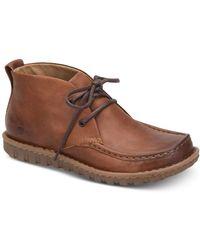 Born Glenwood Moc-toe Chukka Boots - Brown