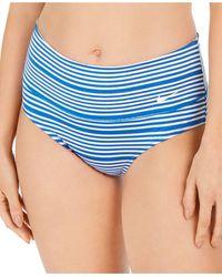 Nike Sport Mesh High-waist Swim Bottoms - Blue
