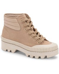 Dolce Vita Ociana Lace-up Hiker Booties - Natural