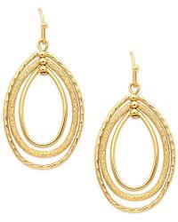Charter Club - Gold-tone Oval Oribital Drop Earrings - Lyst