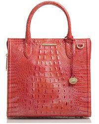 Brahmin Caroline Melbourne Embossed Leather Satchel - Multicolor