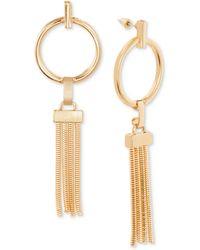 Steve Madden - Hoop & Chain Tassel Drop Earrings - Lyst