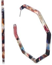 INC International Concepts - I.n.c. Multicolor Geometric Resin Hoop Earrings, Created For Macy's - Lyst