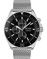 BOSS by Hugo Boss Men's Ocean Edition Chronograph Watch With Bracelet - Black