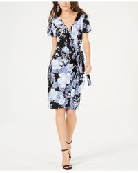 INC International Concepts - I.n.c. Petite Printed Flutter-sleeve Wrap Dress, Created For Macy's - Lyst