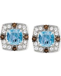 Le Vian | Multi-stone Stud Earrings (2-1/2 Ct. T.w.) In 14k White Gold | Lyst