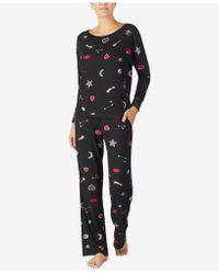 Betsey Johnson - Velvet-trimmed Printed Pajama Set - Lyst