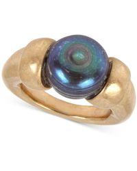 Robert Lee Morris Gold-tone Freshwater Pearl (12mm) Sculptural Ring - Metallic