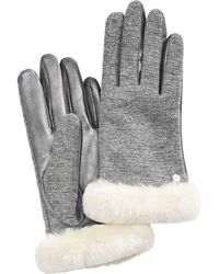 UGG - Mixed Media Shorty Touch Gloves - Lyst