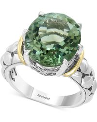 Effy Collection - Effy® Green Amethyst Statement Ring (7-3/4 Ct. T.w.) In Sterling Silver & 18k Gold - Lyst