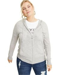 Charter Club Plus Size Cashmere Zip-up Hoodie, Created For Macy's - Gray