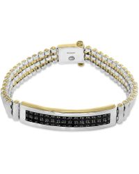 Effy Collection - Men's Sapphire Bracelet (4-1/5 Ct. T.w.) In Sterling Silver And 18k Gold-plate - Lyst