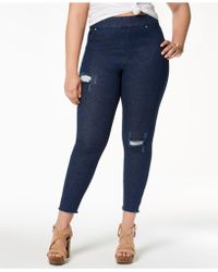 Hue - Plus Size Original Denim Ripped Knee , Created For Macy's - Lyst