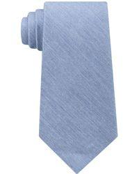Calvin Klein - Men's Light Denim Solid Tie - Lyst