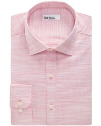 Bar Iii Organic Cotton Slub Solid Slim Fit Dress Shirt, Created For Macy's - Pink