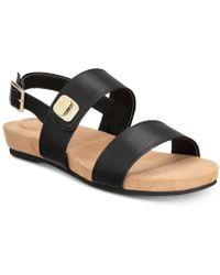 Giani Bernini Ramonaa Memory Foam Footbed Sandals, Created For Macy's - Black