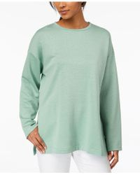 Eileen Fisher - Organic Cotton Blend Side-slit Tunic - Lyst