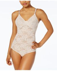Maidenform Lace Body Briefer M3008 - White