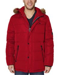 Nautica - Quilted Hooded Parka - Lyst