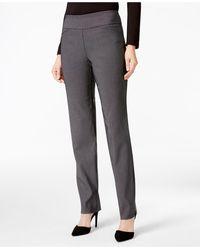 Charter Club Petite Patterned Cambridge Slim Ankle Pants - Gray