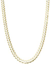"""Macy's - 22"""" Curb Chain (4-3/5mm) Necklace In 14k Gold - Lyst"""