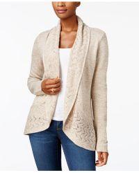 Karen Scott Marled-knit Cardigan, Created For Macy's - Natural