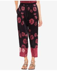 Vince Camuto - Printed Colorblocked Pants - Lyst