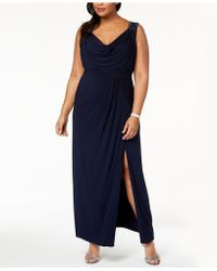 Alex Evenings - Plus Size Draped & Embellished Gown - Lyst
