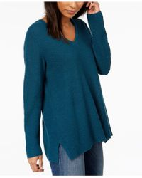 Eileen Fisher - Organic Linen Blend V-neck Jumper - Lyst