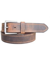 Lejon Tracker Distressed Crazy Horse Leather Casual Work Jean Belt - Brown