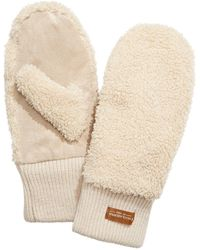 UGG ? Faux-shearling Mittens With Knit Cuff - Natural