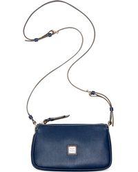Dooney & Bourke Saffiano Leather Lexi Crossbody - Blue