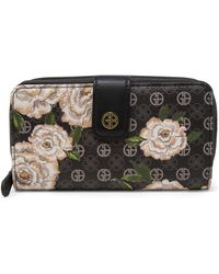 Giani Bernini Floral Signature All In One Wallet, Created For Macy's - Black