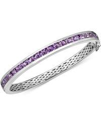 Macy's - Amethyst Bangle Bracelet (6-1/2 Ct. T.w.) In Sterling Silver - Lyst