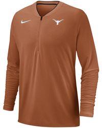 Nike Texas Longhorns Coaches Quarter-zip Pullover 2018 - Orange