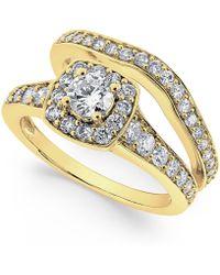 Macy's - Diamond Frame Bridal Set (1-1/4 Ct. T.w.) In 14k White Gold - Lyst