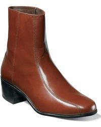 Florsheim Shoes, Duke Bike Toe Ankle Boots - Metallic