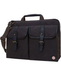 """Token Waxed Knickerbocker 13"""" Laptop Bag - Black"""