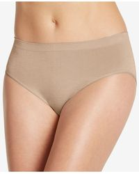 Jockey Smooth And Shine Seamfree Heathered Hi Cut Underwear 2188, Available In Extended Sizes - Natural