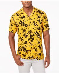 INC International Concepts - Twig Leaf Camp Collar Shirt, Created For Macy's - Lyst