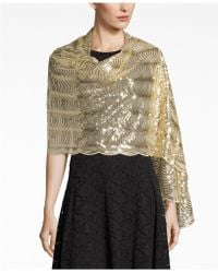 Betsey Johnson - Sequined Scallops Evening Wrap - Lyst
