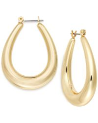 Charter Club - Gold-tone Oval Hoop Earrings - Lyst