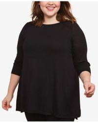 Jessica Simpson Plus Size Nursing Top - Black