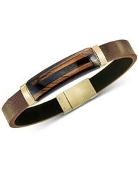 Macy's - Tiger's Eye Bracelet In Gold Tone Ion-plated Stainless Steel - Lyst