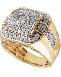 Macy's - Diamond Pavé Ring (3/4 Ct. T.w.) In 10k Gold - Lyst