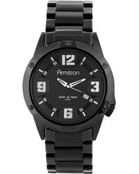 Armitron - Men's Black Stainless Steel Bracelet Watch 42mm 20-4692bkti - Lyst