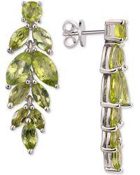 Macy's Amethyst Vine Drop Earrings (5-3/4 Ct. T.w.) In Sterling Silver (also Available In Blue Topaz, Garnet And Peridot) - Metallic